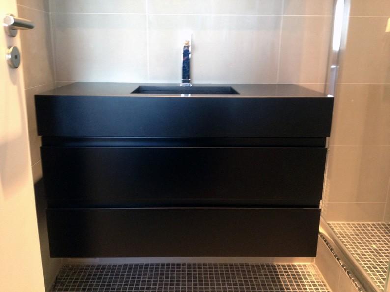 meuble vasque noir save cr ation paris ile de france. Black Bedroom Furniture Sets. Home Design Ideas