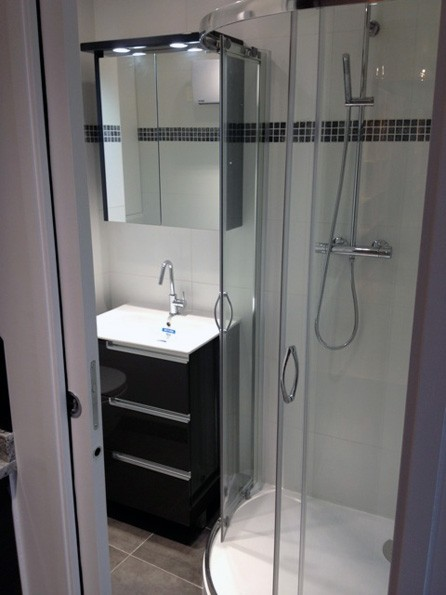 Mini salle de bain save cr ation paris ile de france - Mini salle de bain 2m2 ...