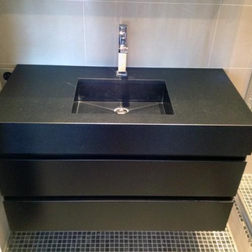 Meuble vasque noir