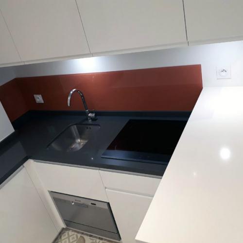 Mini-cuisine en L avec Comptoir Paris 18e